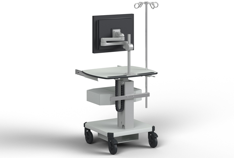 The product image shows a Knürr SynergyCart